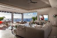 cool living room of Saint Barth Villa Legends B luxury apartment, holiday home, vacation rental