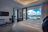 crisp bedroom linens in Saint Barth Villa Legends B luxury apartment, holiday home, vacation rental