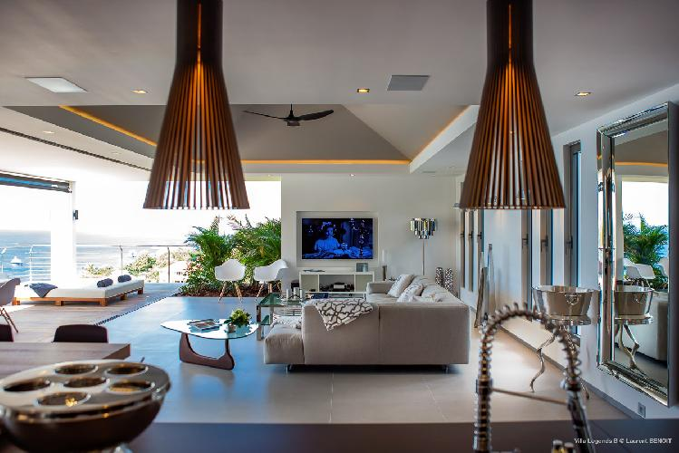 cool sitting area in Saint Barth Villa Legends B luxury apartment, holiday home, vacation rental