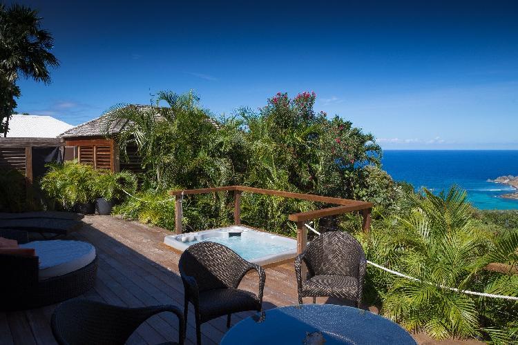 beautiful sea view from Saint Barth Villa Manonjul 2 luxury holiday home, vacation rental