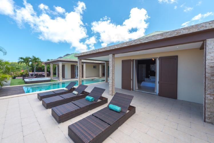 cool poolside of Saint Barth Villa Tessy luxury holiday home, vacation rental