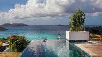 cool infinity pool of Saint Barth Villa Wings luxury holiday home, vacation rental