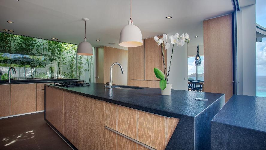 modern kitchen appliances in Saint Barth Villa Wings luxury holiday home, vacation rental