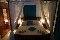 pristine bedding in Saint Barth Villa Aquamarine luxury vacation rental