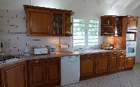 cool kitchen of Saint Barth Villa Aquamarine luxury vacation rental
