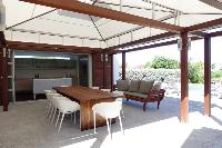 cool patio of Saint Barth Villa Mak luxury holiday home, vacation rental