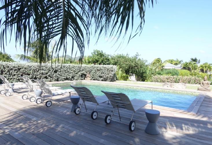 cool swimming pool of Saint Barth Villa Mak luxury holiday home, vacation rental