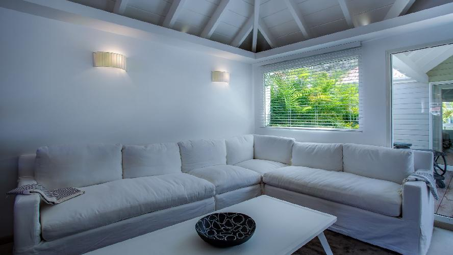 cool sitting area in Saint Barth Villa Rive Gauche holiday home, vacation rental