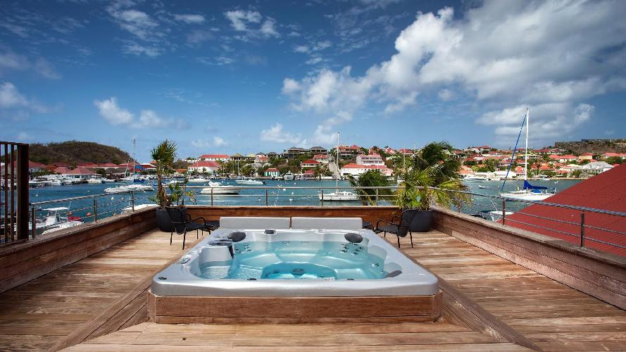 cool hot tub of Saint Barth Villa Rive Gauche holiday home, vacation rental