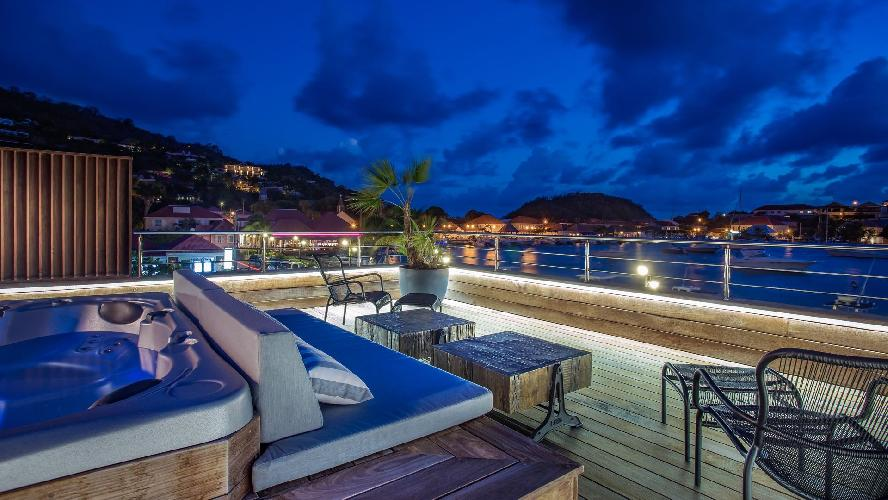 incredible sea view from Saint Barth Villa Rive Gauche holiday home, vacation rental