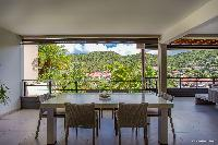 beautiful dining room of Saint Barth Villa Wahoo luxury holiday home, vacation rental