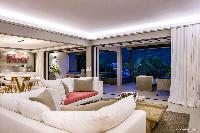 beautiful living room of Saint Barth Villa Wahoo luxury holiday home, vacation rental
