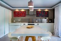 cool modern kitchen of Saint Barth Villa Wahoo luxury holiday home, vacation rental