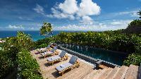 delightful deck of Saint Barth Villa Clementine luxury home, vacation rental