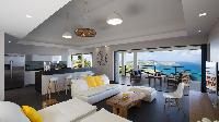 cool living room of Saint Barth Villa Clementine luxury home, vacation rental