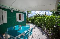 cool patio of Saint Barth Luxury Villa Eugenie holiday home, vacation rental