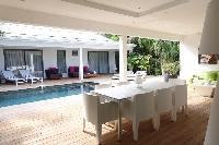 pretty lanai of Saint Barth Luxury Villa Gaia holiday home, vacation rental