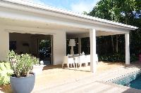 pretty patio of Saint Barth Luxury Villa Gaia holiday home, vacation rental