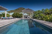 amazing swimming pool of Saint Barth Villa Wild Blue luxury holiday home, vacation rental