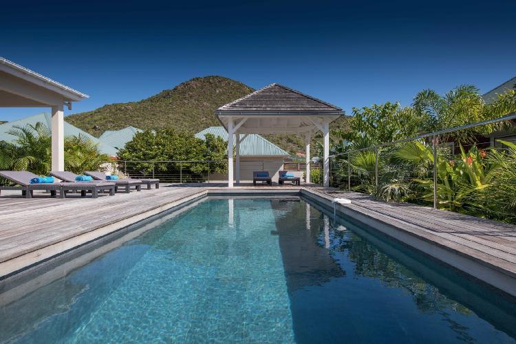 amazing swimming pool of Saint Barth Villa Wild Blue luxury holiday home, vacation rental