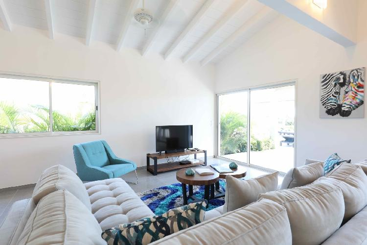 pleasant Saint Barth Villa Wild Blue luxury holiday home, vacation rental