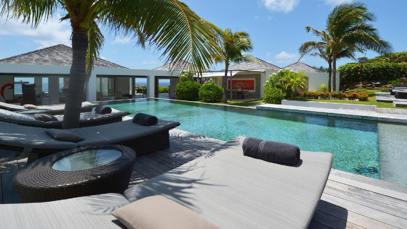 beautiful Saint Barth Villa Casa Del Mar luxury holiday home, vacation rental