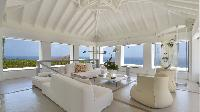 delightful sitting area in Saint Barth Villa Casa Del Mar luxury holiday home, vacation rental