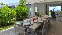 pretty patio of Saint Barth Villa Casa Del Mar luxury holiday home, vacation rental