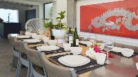 delightful dining area in Saint Barth Villa Casa Del Mar luxury holiday home, vacation rental