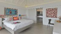 crisp bed sheets in Saint Barth Villa Casa Del Mar luxury holiday home, vacation rental