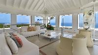 beautiful living room of Saint Barth Villa Casa Del Mar luxury holiday home, vacation rental