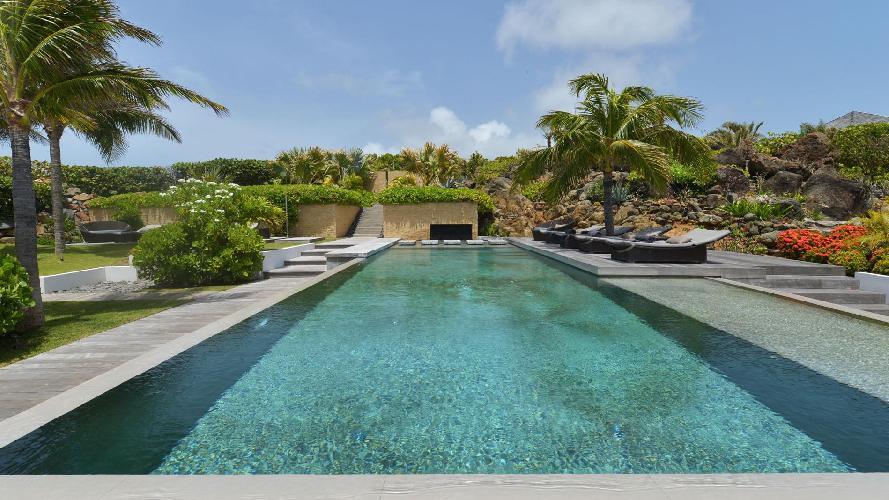 cool swimming pool of Saint Barth Villa Casa Del Mar luxury holiday home, vacation rental