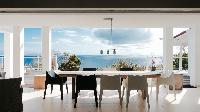 cool dining room of Saint Barth Villa Dasha luxury holiday home, vacation rental