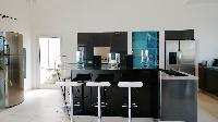 cool kitchen of Saint Barth Villa Dasha luxury holiday home, vacation rental