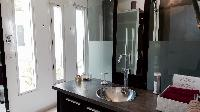 swanky bathroom in Saint Barth Villa Dasha luxury holiday home, vacation rental