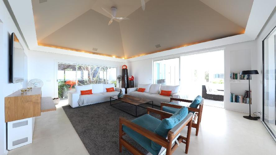 cool sitting area in Saint Barth Luxury Villa Eclipse holiday home, vacation rental