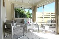 cool patio of Saint Barth Villa Idalia luxury holiday home, vacation rental