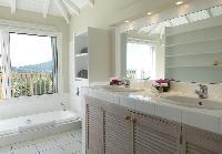 clean bathroom in Saint Barth Villa Idalia luxury holiday home, vacation rental