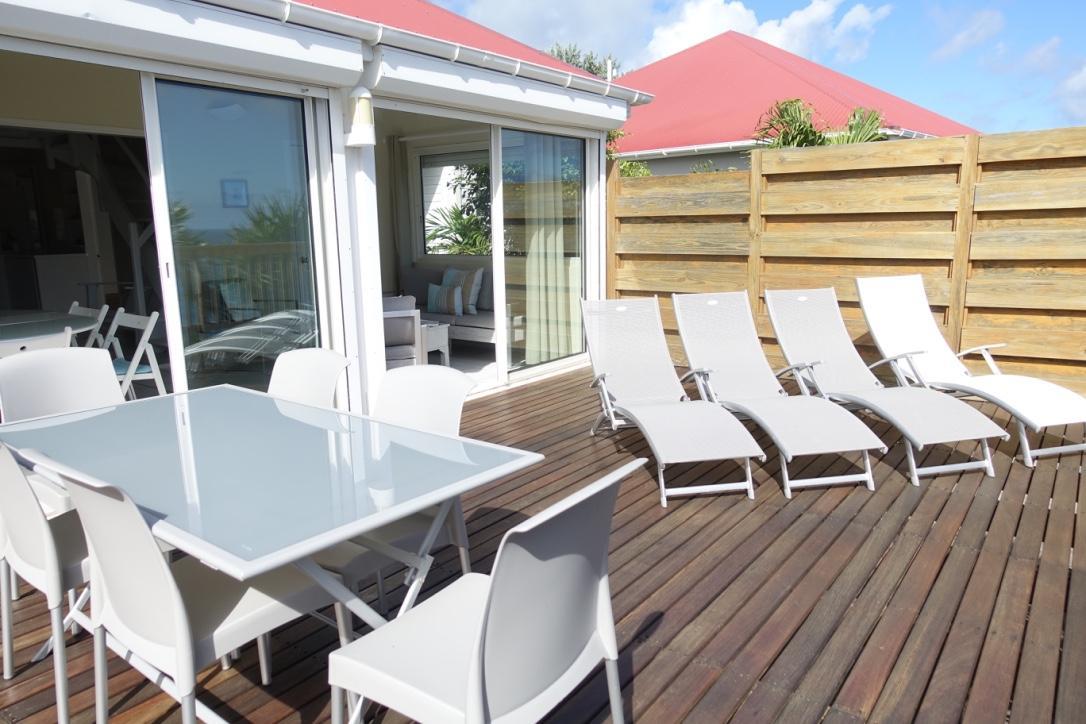 cool deck of Saint Barth Villa Idalia luxury holiday home, vacation rental
