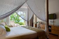 clean bedroom linens in Saint Barth Villa Samsara luxury holiday home, vacation rental