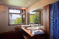 spic-and-span bathroom in Saint Barth Villa Samsara luxury holiday home, vacation rental