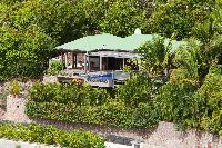 lovely garden of Saint Barth Villa Samsara luxury holiday home, vacation rental