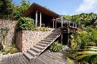 lush garden of Saint Barth Villa Samsara luxury holiday home, vacation rental