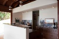 modern kitchen appliances in Saint Barth Villa Samsara luxury holiday home, vacation rental