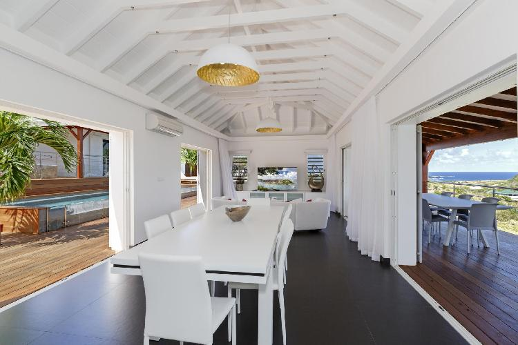 pleasant Saint Barth Luxury Villa 360° Caribbean Sea holiday home, vacation rental