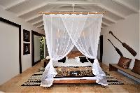 clean bedroom linens in Saint Barth Luxury Villa Amancaya Estate vacation rental