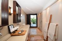 fabulous bathroom with rain shower in Saint Barth Luxury Villa Amancaya Estate vacation rental