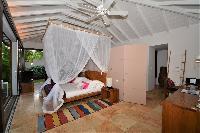 cool canopy bed in Saint Barth Luxury Villa Amancaya Estate vacation rental