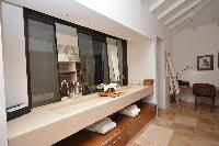 neat interiors of Saint Barth Luxury Villa Amancaya Estate vacation rental