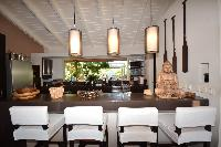 cool breakfast bar of Saint Barth Luxury Villa Amancaya Estate vacation rental